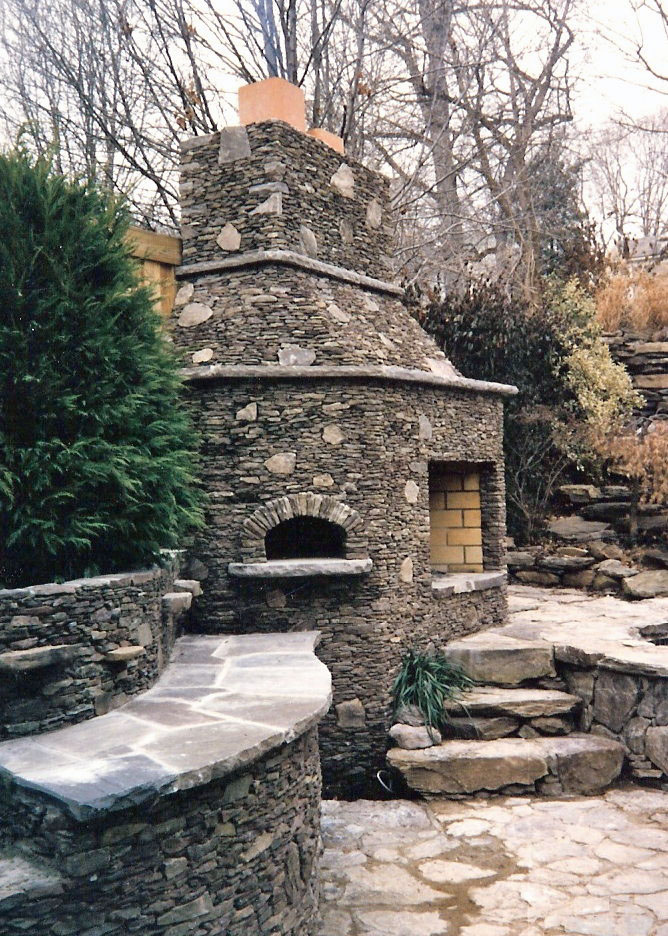 Stone Fireplace & Pizza Oven