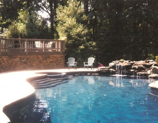 Pool design in frederick md va and wv poole 39 s stone for Pool design virginia