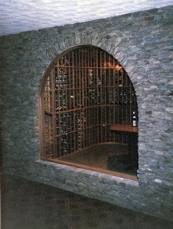 Arched Stone Wine Cellar
