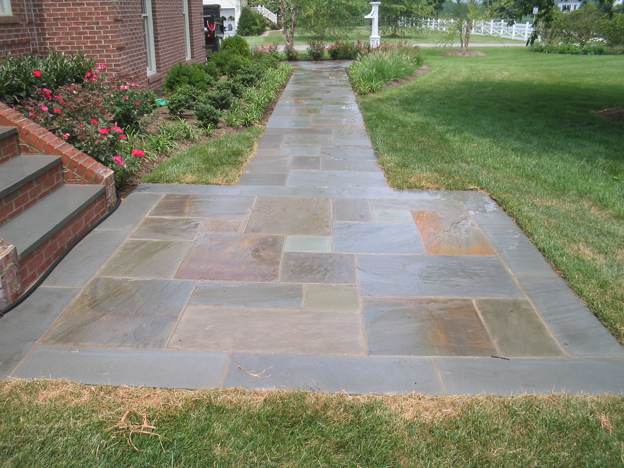Front Entrance Stone Walkway