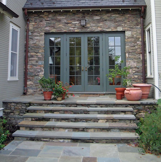 Oversized Stone Entry Steps