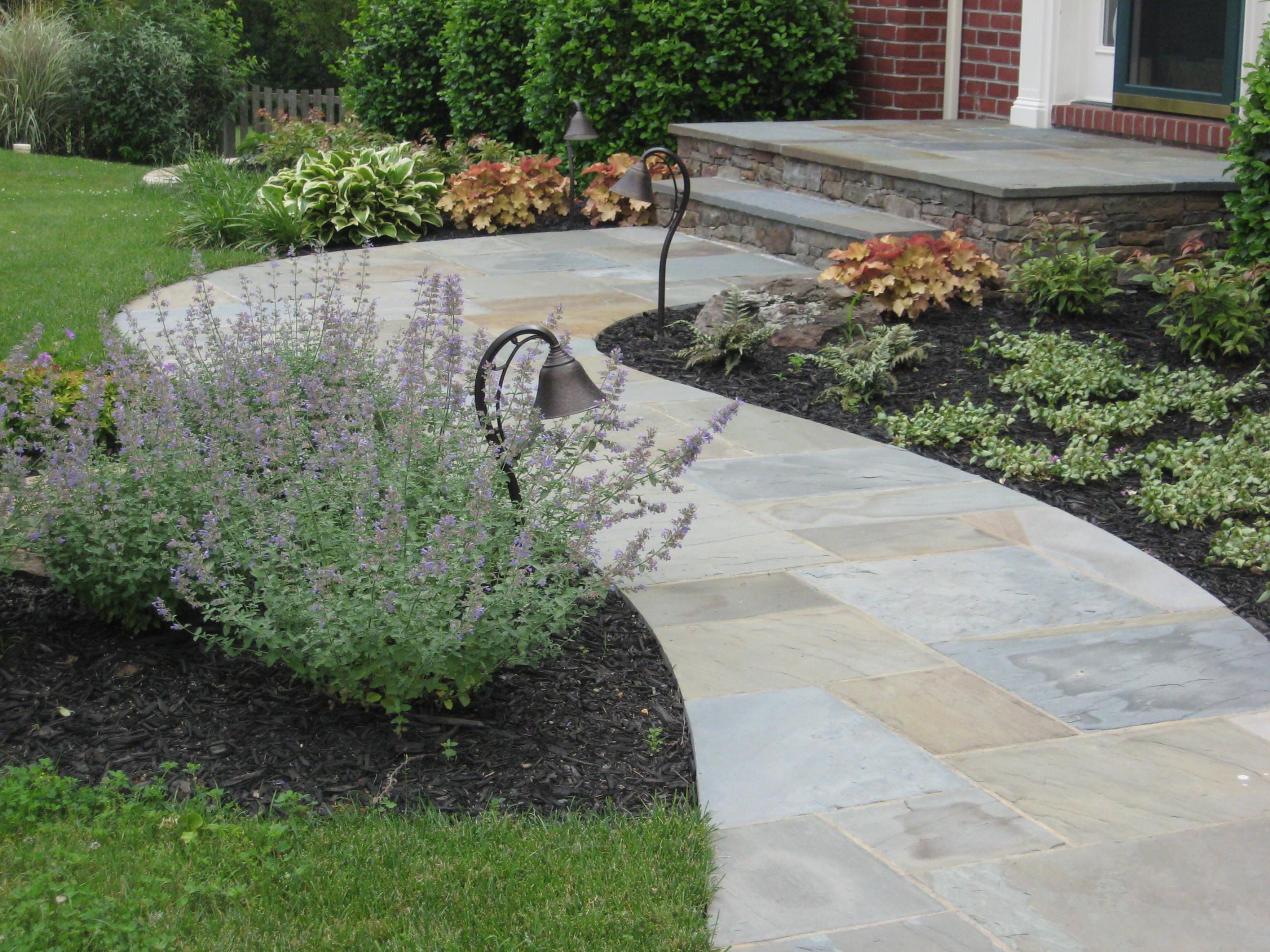 Curving Stone Walkway