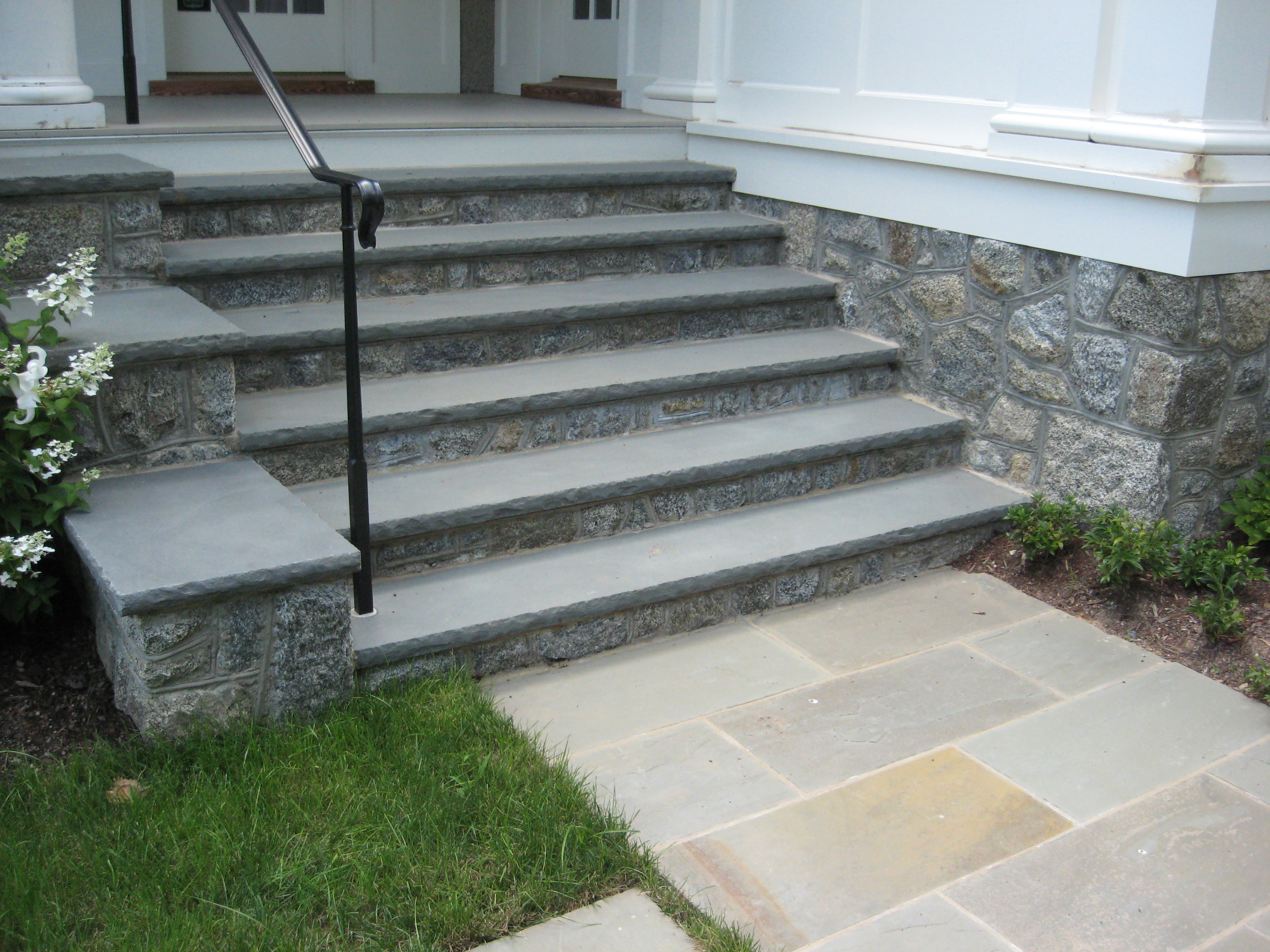 Stone Stairs at front entry
