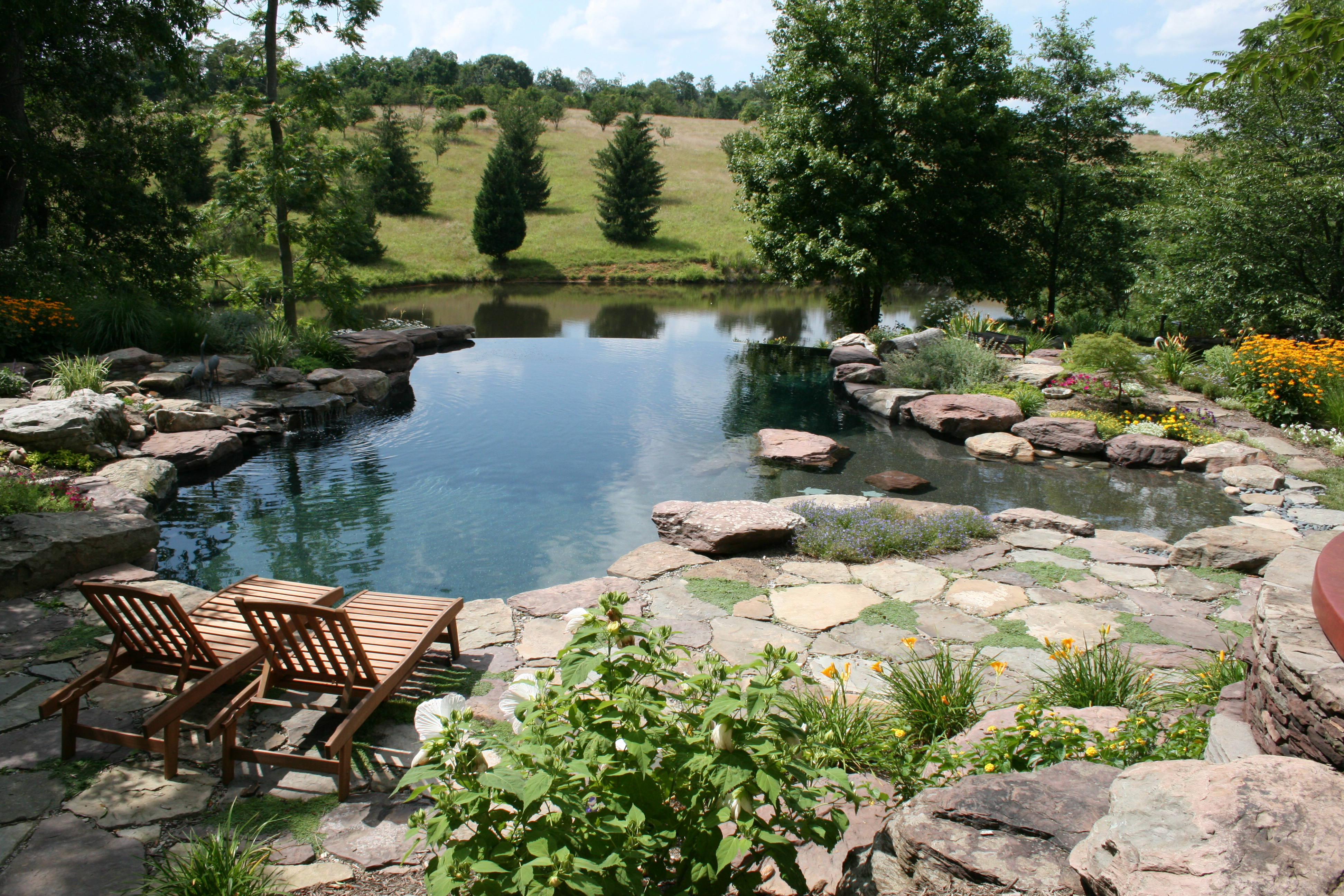 Award winning custom in-ground swimming pool