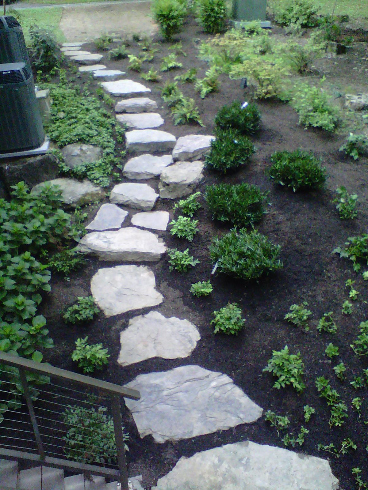 Custom stone garden path