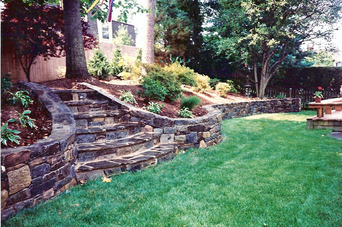 Stone Stairs and Retaining Wall