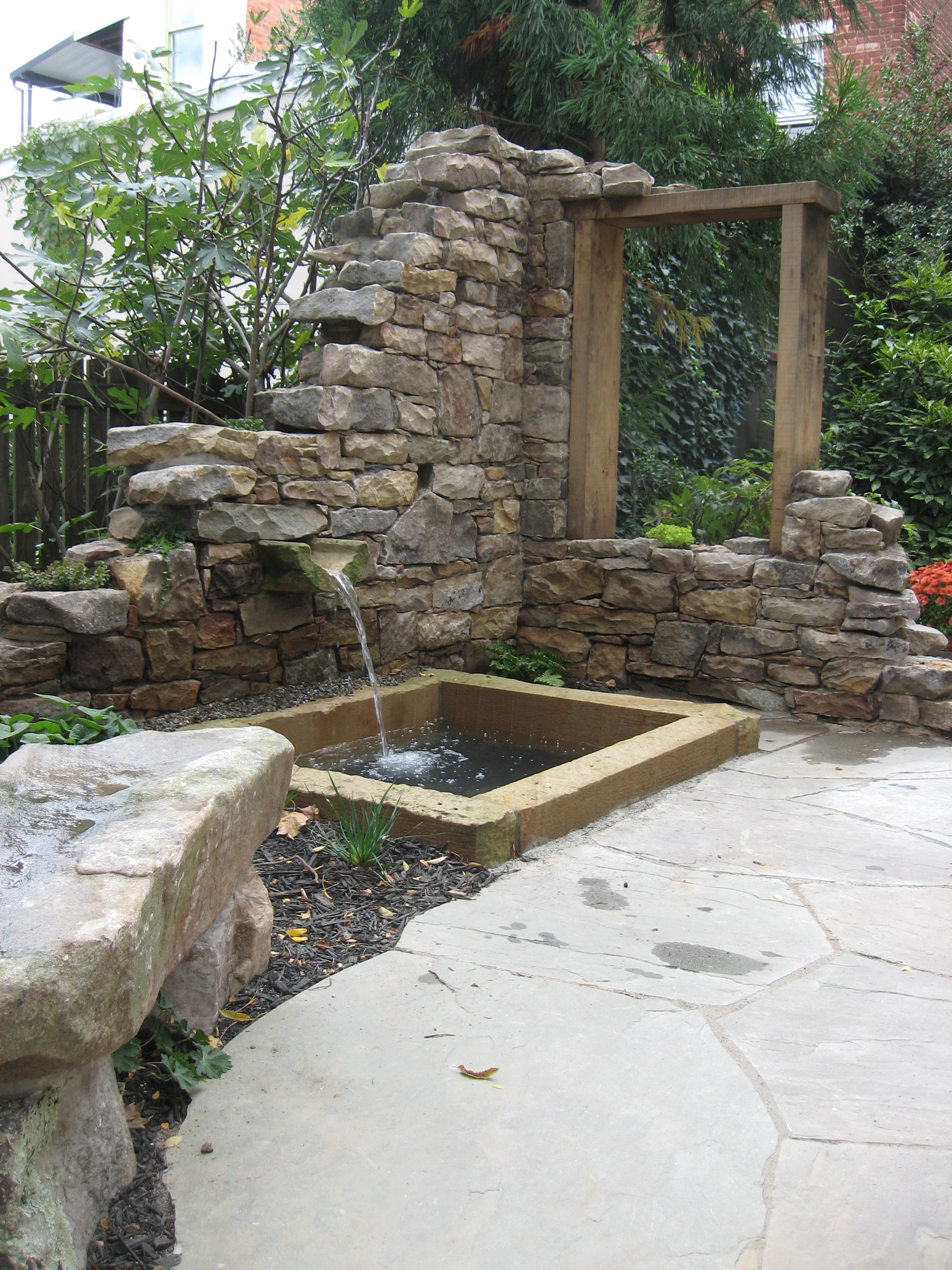 Stone Ruin with a self-circulating Water Feature