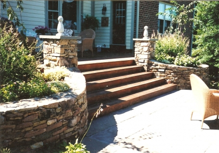 Beautiful Stone Patio Stairs