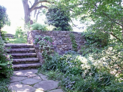 Natural looking stone stairs
