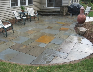 Curved Flagstone Patio