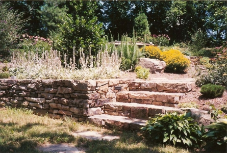 Stone Wall with adjoining stairs