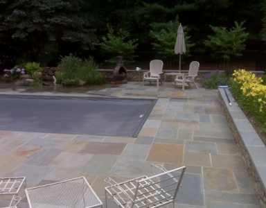 Flagstone Pool Deck