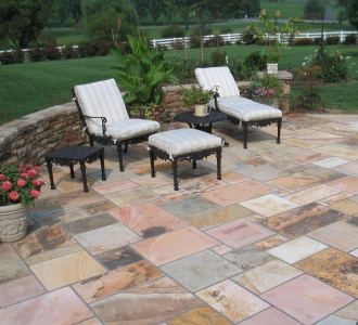 Unique Stone Patio