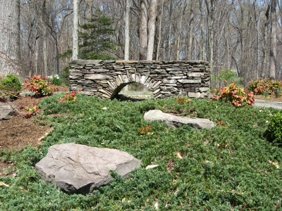 Stone Wall Garden Art