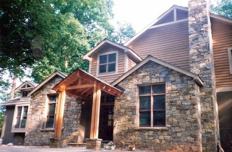 Stone Veneer Home
