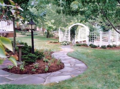 Winding Stone Garden Path