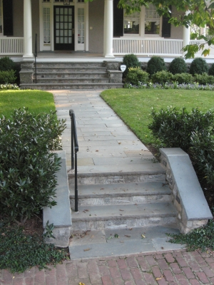Traditional Stone Walkway & Steps from curb to front porch