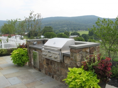 Custom Built-in Barbeque