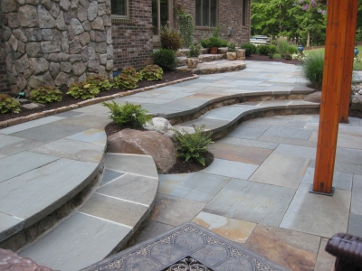 Slate Stone Steps to Patio, Chevy Chase Maryland