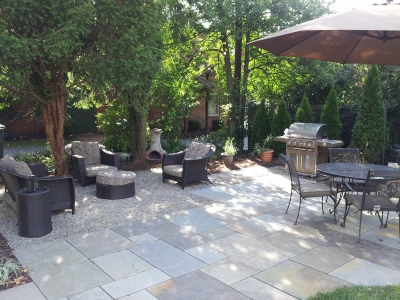 Unique Patio with contrasting elements