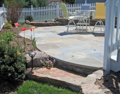 Simple Stone Patio