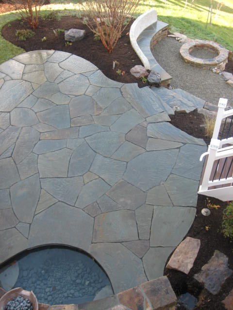 Custom Patio with water feature