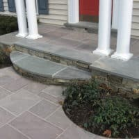 Stone and Flagstone Front Entry