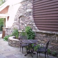 113 Exterior Stone Veneer and Entry Water Feature
