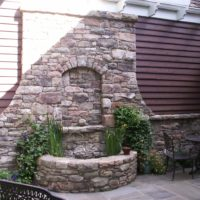 129 Exterior Stone Veneer and Entry Water Feature