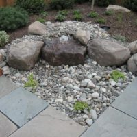 131 Water Bubbler Adds Calm to a Flagstone Patio