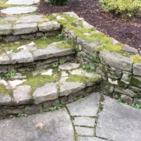Curving Stone Steps and Retaining Walls
