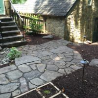 Flagstone Walkway for Historic Home