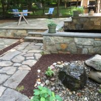 Above Grade Flagstone Patio for Historic Home