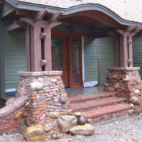 216 Eclectic Brick and Cobblestone Front Entry Columns