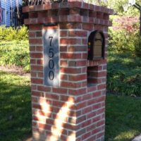228 Brick Mailbox Entry Column