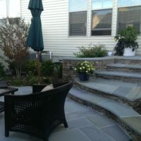 235 Curving Flagstone Steps to Flagstone Patio