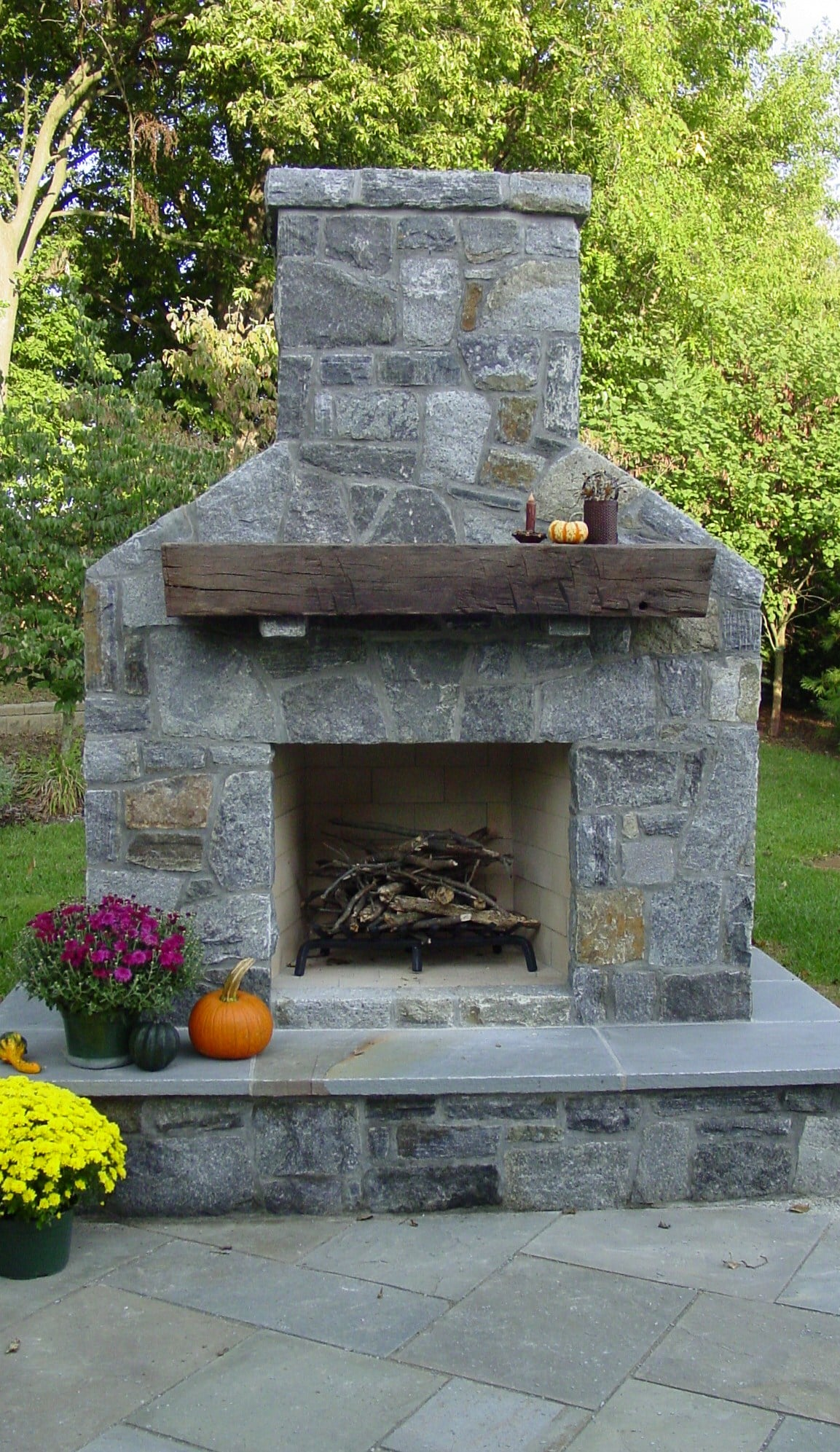 253 Fireplace with Lake George Granite Stone Veneer