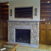 273 Stone Fireplace with Stone Lintel
