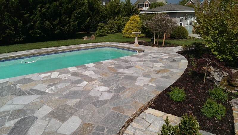 288 Renovated Pool Deck with Idaho Irregular Flagstone