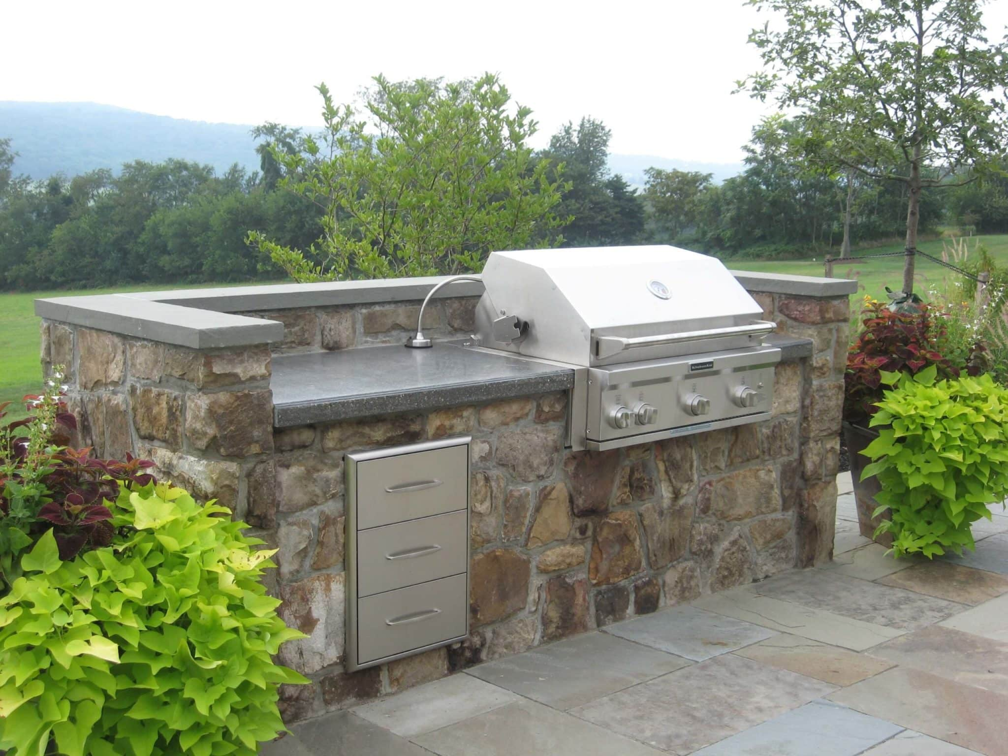 303 Custom Built Gas Grill and Concrete Countertop