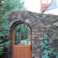 369 Stone Arched Doorway and Wall