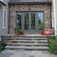 41 Wide Stone and Flagstone Steps and Landing
