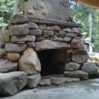 431 Cobblestone Fireplace