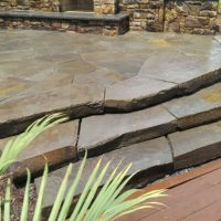 466 Colonial Steppers to PA Irregular Flagstone Patio