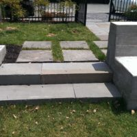 467 Urban Concrete Retaining Walls and Stone Steps