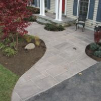 471 Front Flagstone Entrance with Sitting Area