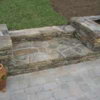 478 Deep Stone Steps and Low Stone Retaining Walls