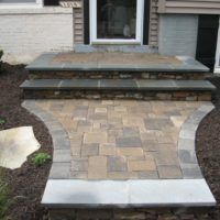 480 Renovated Front Stoop with Pavers and Flagstone Border