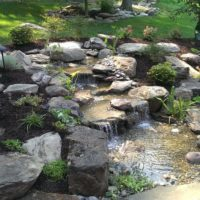 488 Garden Features Stone Steppers, Waterfall and Boulders