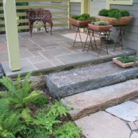 52 Salvaged and Distressed Stone Steppers to Flagstone Landing